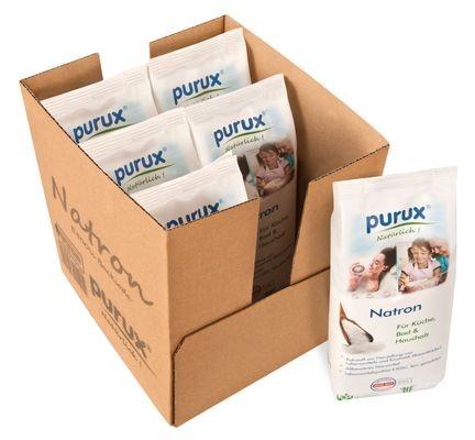 Purux Natron 6kg Natriumhydrogencarbonat Natriumbicarbonat Lebensmittelqualität Backsoda Basenbad