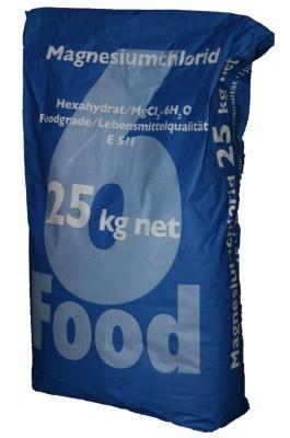 Magnesiumchlorid 25kg Food MgCl2 E511 Magnesium Lebensmittel Pulver