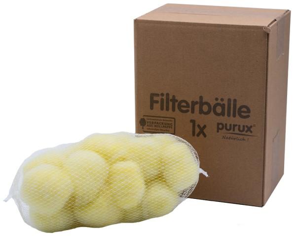 purux ® Filterbälle aus Sekundärrohstoffen Einzelpackung