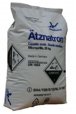 Ätznatron 25kg Akzo Nobel, Natriumhydroxid NaOH Ätzsoda