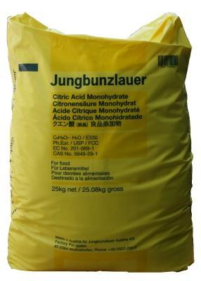 Zitronensäure 25 kg  Pharmaqualität Granulat  e330 Jungbunzlauer GMO frei