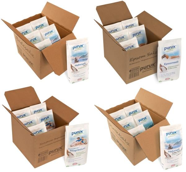 Badesalz Bundle 4 verschiedene Badesalze 20 kg Paket