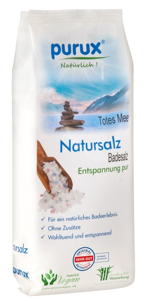 Totes Meer Salz Direktsalz 1kg Badesalz mit natürlichem getrocknetem Totes Meer Schlamm